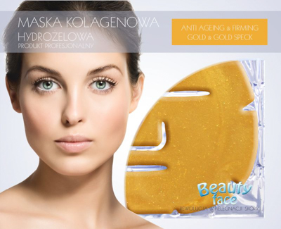 328160_BEAUTYFACE COLLAGEN FACE MASK PROFESSIONAL GOLD & GOLD SPECK 45+-20